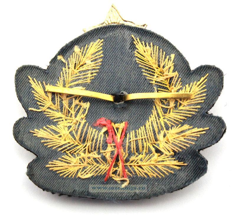 Кокарда офицерская ВМФ СССР (краб шитый, копия)