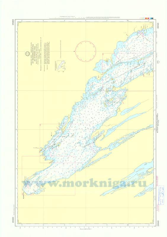 23043 От Медвежьегорска до острова Хед (Масштаб 1:100 000)