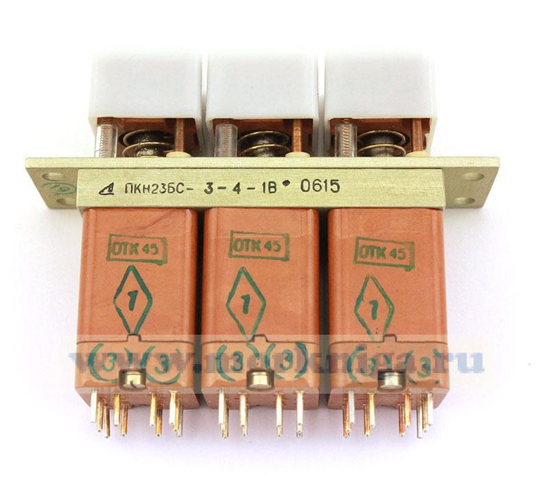 Переключатель кнопочный ПКН23БС-3-4-1В
