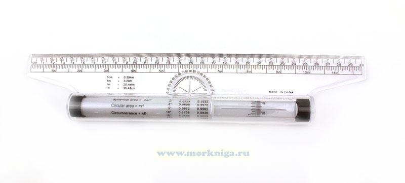 Многофункциональная штурманская параллельная линейка 30 см