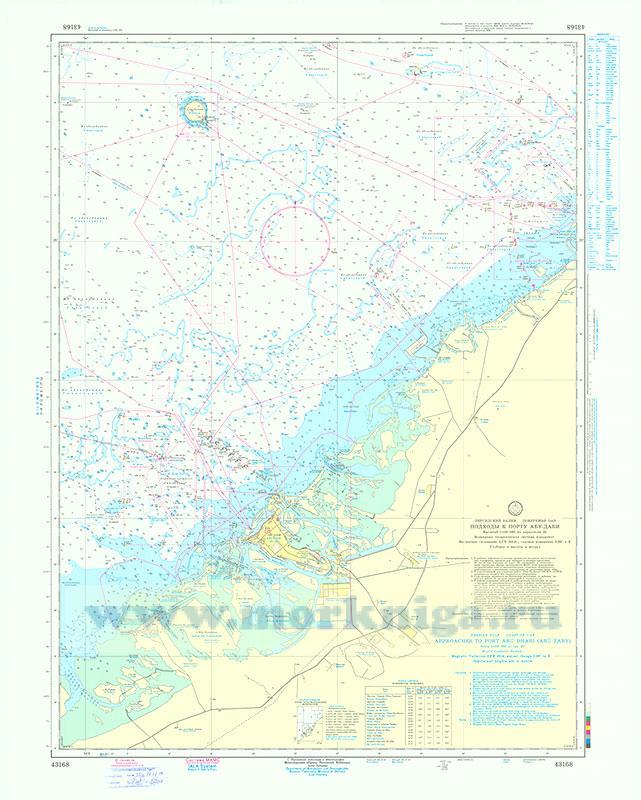 43168 Подходы к порту Абу-Даби (Маштаб 1:150 000)