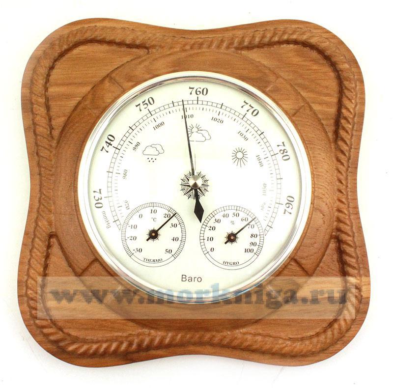 Барометр-термометр-гигрометр 130х43 мм