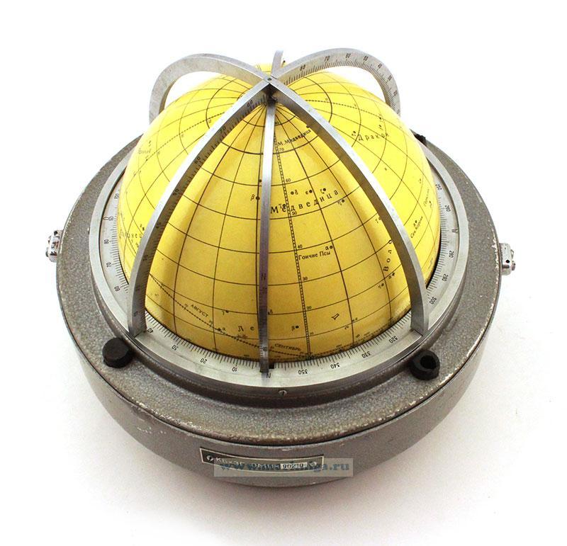 Звездный глобус морской КБх3Г-ОМ11 в металлическом футляре б/у