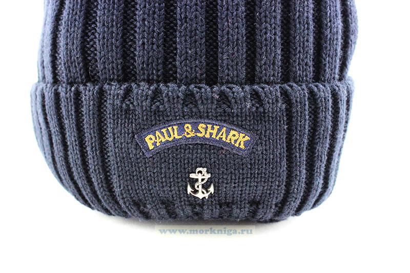 """Шапка PAUL&SHARK (Синяя """"Резинка"""")"""