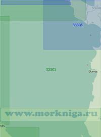 32301 От порта Бриндизи до мыса Волуйица (Масштаб 1:200 000)