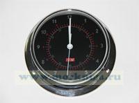 Часы (черный циферблат, полированная и хромированная латунь) 120*95*40мм