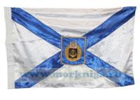 Флаг Андреевский с гербом Черноморского флота