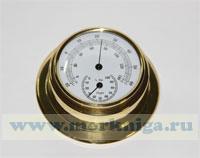 Термометр-гигрометр (полированная латунь) 95 мм*70 мм