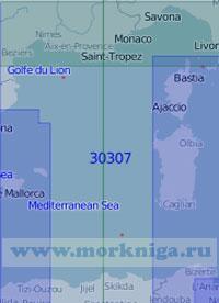 30307 От Балеарских островов до островов Сардиния и Корсика (Масштаб 1:1 000 000)