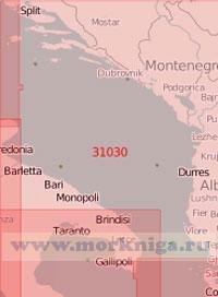 31030 Южная часть Адриатического моря (Масштаб 1:500 000)