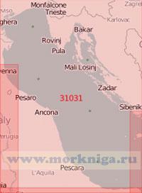 31031 Северная часть Адриатического моря (Масштаб 1:500 000)