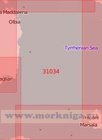 31034 От острова Сардиния до острова Сицилия (Масштаб 1:500 000)