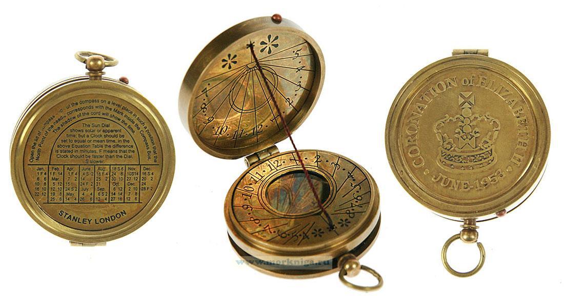 Сувенир: солнечные часы и компас 8*7*2см