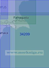 34209 Заливы Ларнака и Фамагуста (Амохостос) (Масштаб 1:100 000)