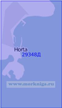 29348Д Пролив Фаял, порты Ангра-ду-Эроишму, Прая-да-Витория, Орта и гавань Вила-да-Прая. Порт Орта