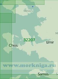 32207 От острова Лесбос до острова Икария (Масштаб 1:200 000)