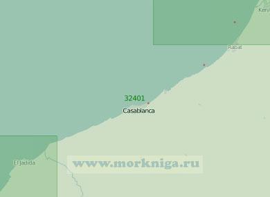 32401 От устья реки Себу до порта Эль-Джадида (Масштаб 1:200 000)