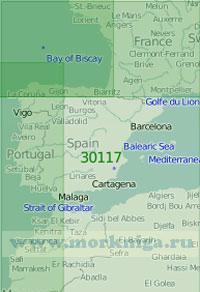 30117 Западная часть Средиземного моря (Масштаб 1:2 000 000)