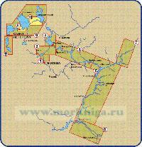 Река Волга от Рыбинска до Чебоксар. (№4 RS-C214 WIDE)