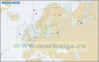 Датский пролив, Балтийское море, Финский залив, река Нева, Ладожское озеро, река Свирь, Онежское Озеро (№8 EN-M006 MEGA WIDE)