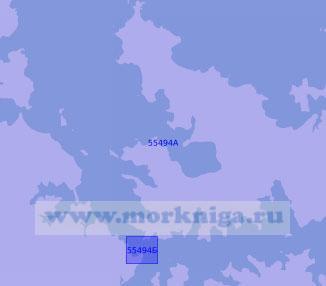 55494 Остров Северный. Залив Бей - оф - Айлендс (Масштаб 1: 50 000)