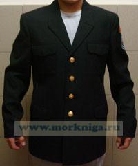 Китель кадетский шерстяной . Размер 50-6 (188-100-87)