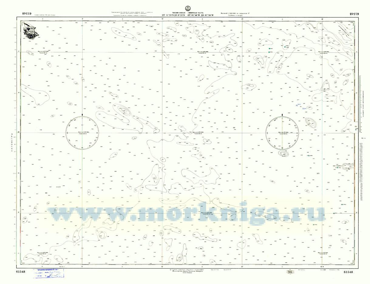 61548 Тихий океан. Северная часть (Масштаб 1:500 000)