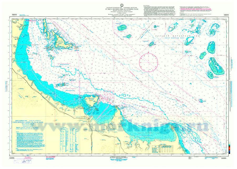 53391 От мыса Боулинг-Грин до островов Палм (Масштаб 1:150 000)