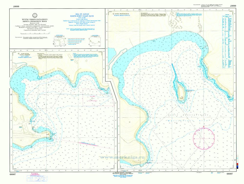 68007 Бухты северо-западного побережья Японского моря