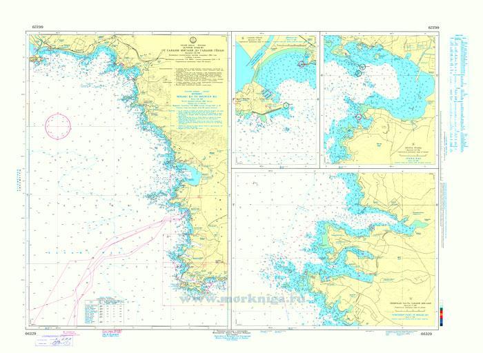 66329 От гавани Мисаки до острова Эносима (Масштаб 1:25 000)