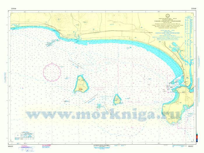 68452 Остров Хайнань. Гавань Санья с подходами (Масштаб 1: 20 000)
