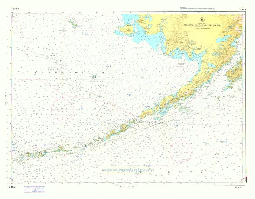 60105 Юго-восточная часть Берингова моря (Масштаб 1:2 000 000)