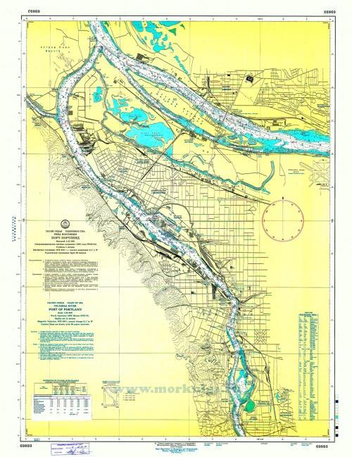 69893 Река Колумбия. Порт Портленд (Масштаб 1: 25 000)