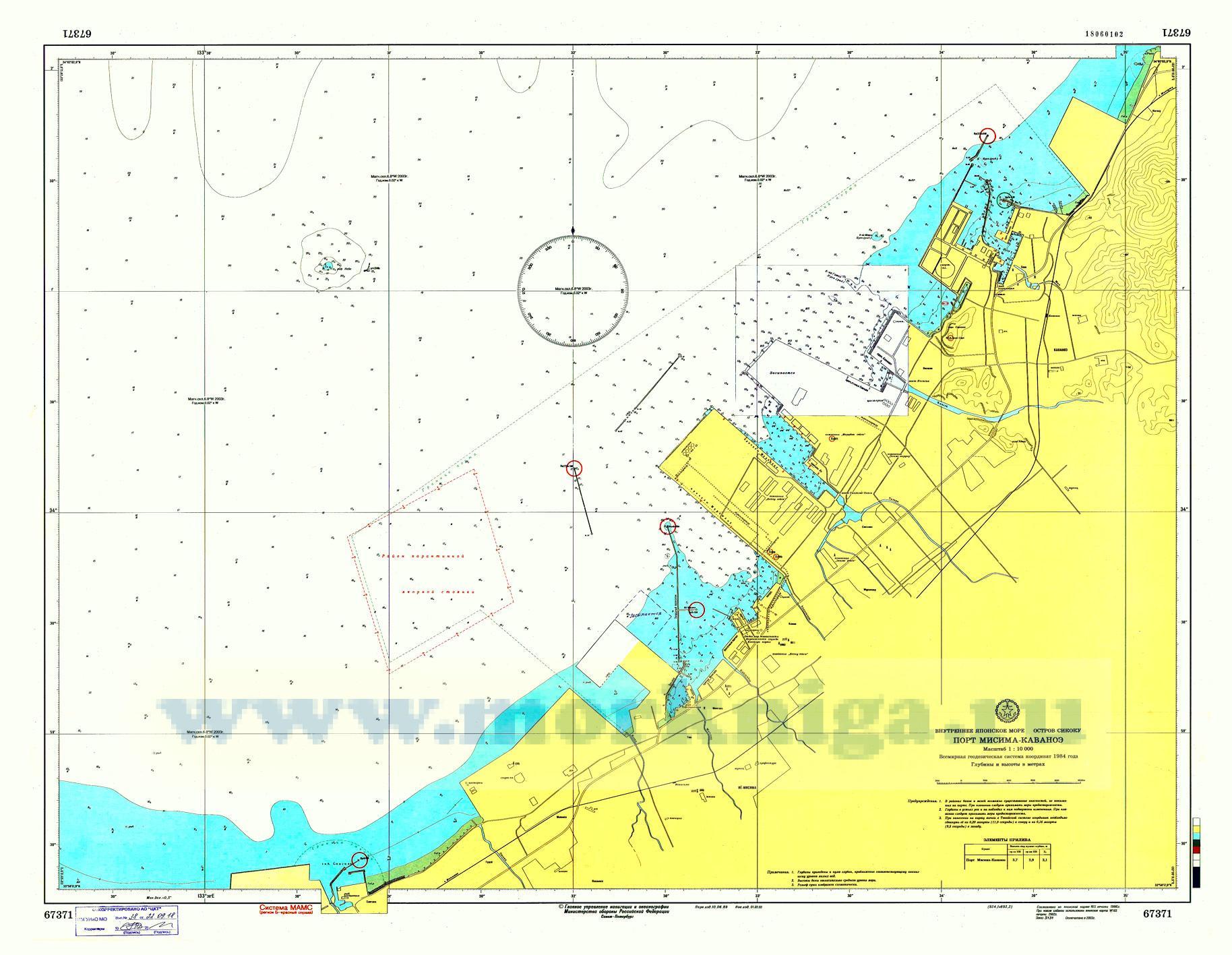 67371 Порт Мисима-Каваноэ (Масштаб 1:10 000)
