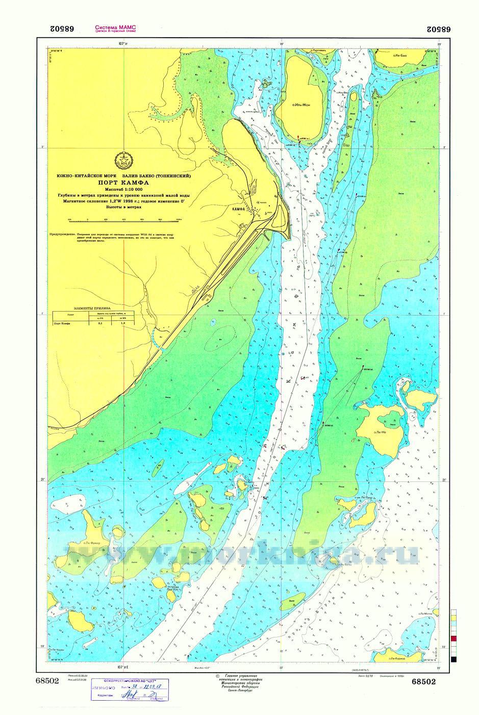 68502 Порт Камфа (Масштаб 1:10 000)