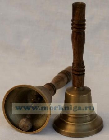 Колокольчик с деревянной ручкой 3 дюйма