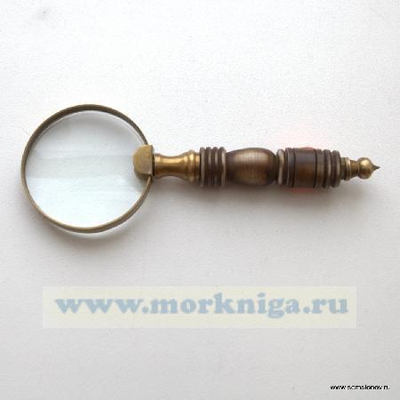 Лупа круглая маленькая с костяной ручкой
