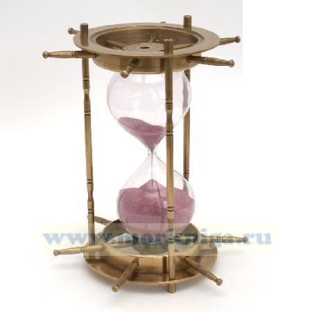 Песочные часы 8 дюймов штурвал бронзовые