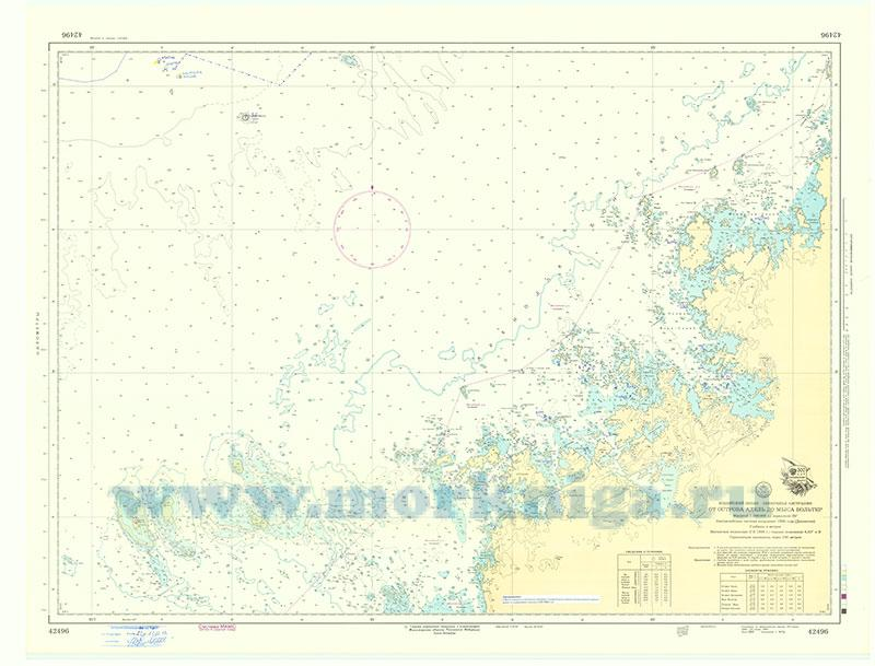 42496 От острова Адель до мыса Вольтер (Масштаб 1:300 000)