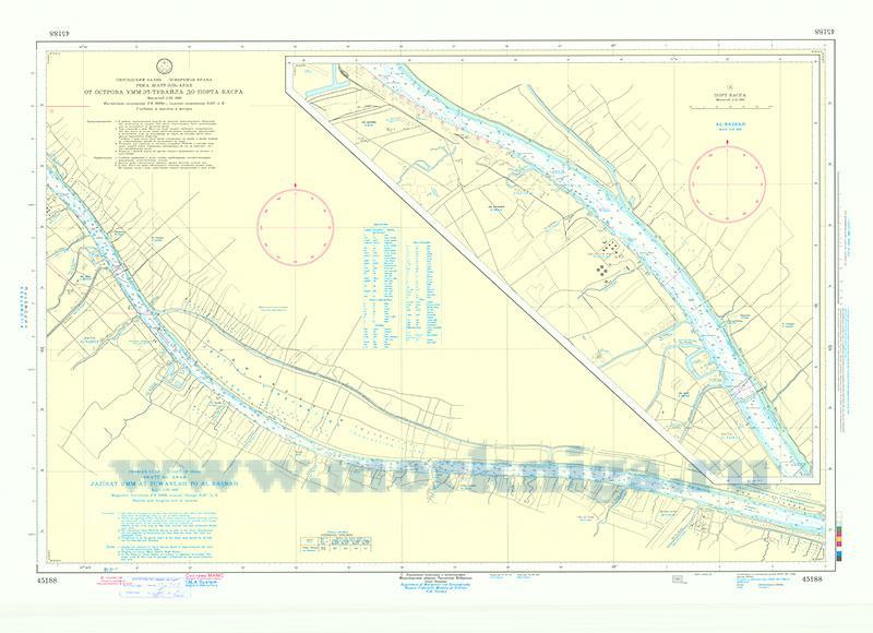 45188 От острова Умм-эт-Тувайла до порта Басра (Масштаб 1:25 000)