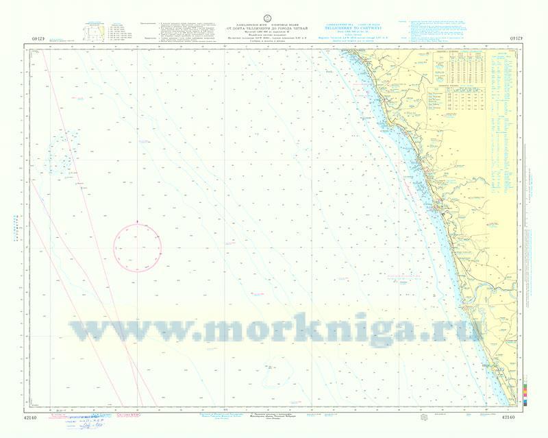 42140 От порта Телличерри до города Четвай (Масштаб 1:200 000)