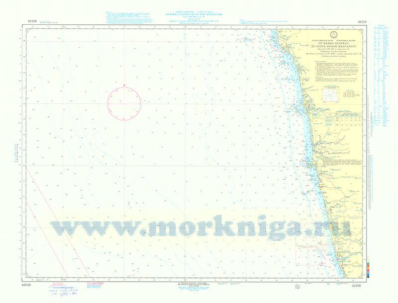 42138 От маяка Бхаткал до порта Новый Мангалуру (Масштаб 1:200 000)