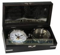 Сувенир настольный: часы и компас 22*11*7см