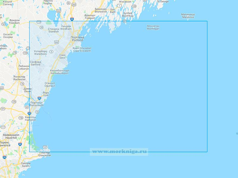 22665 От острова Монхиган до мыса Халибут (Масштаб 1:200 000)