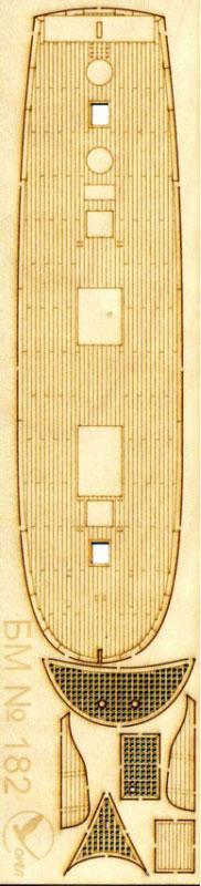 Палубы из деревянного шпона к модели №182 Транспорт Байкал