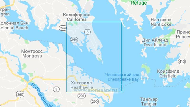 25724 Река Потомак. От Чесапикского залива до мыса Пайни-Пойнт (Масштаб 1:50000)