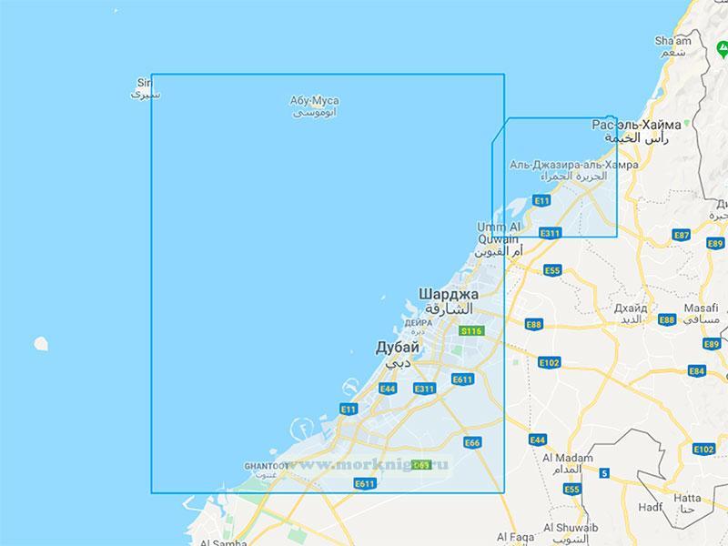 43167 От мыса Абу-Ахмад до мыса Ганада с островом Джезирейе-Сирри (Масштаб 1:150000)