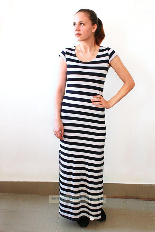 Платье Тельняшка (длинное)