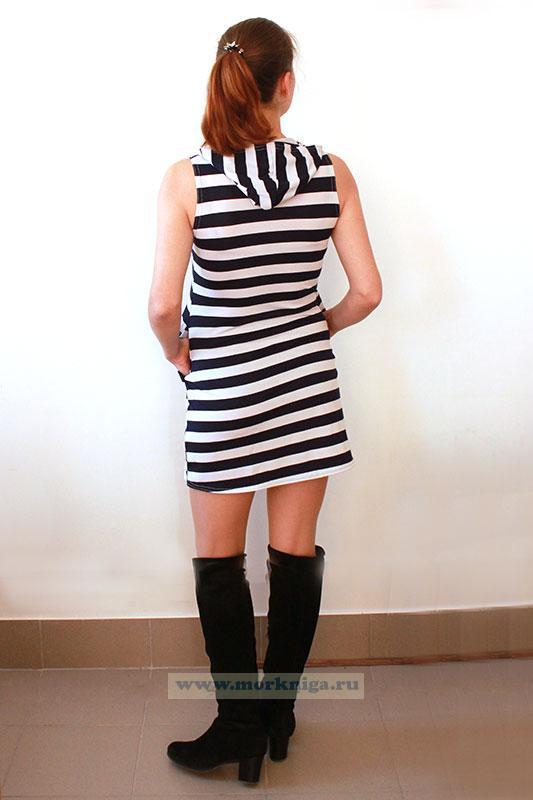 Платье Тельняшка (с капюшоном)