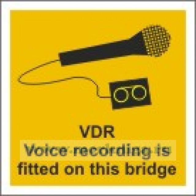 На мостике ведется звукозапись. VDR Voice recording is fitted on this bridge (самоклейка)